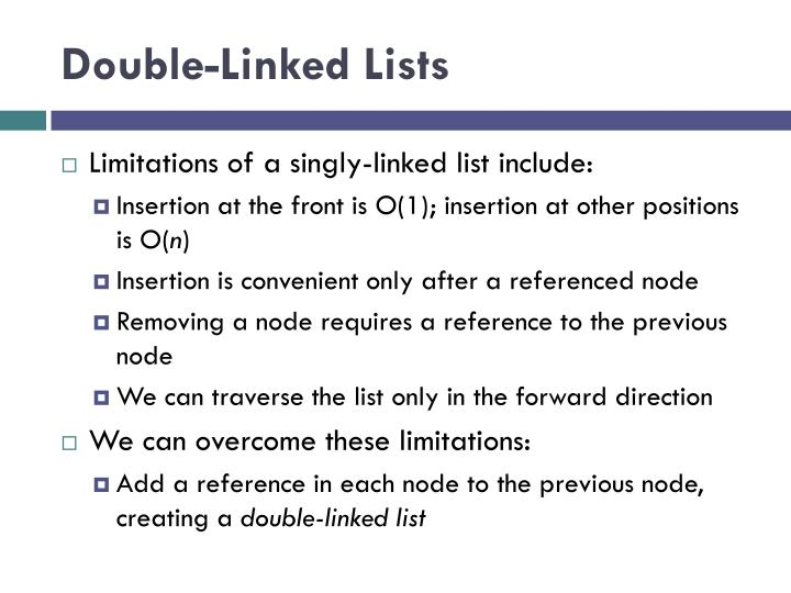 Double-Linked Lists