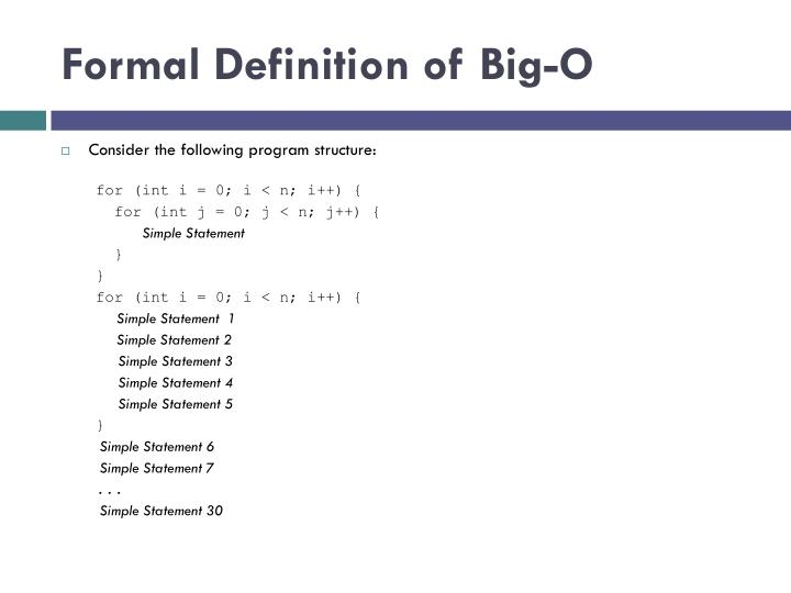 Formal Definition of Big-O