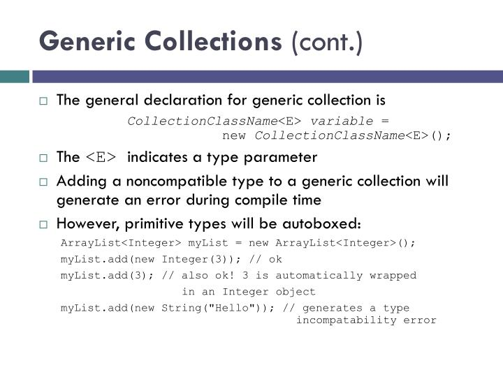 Generic Collections