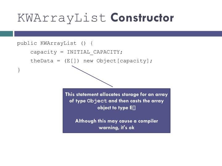 KWArrayList
