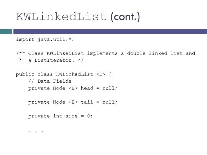 KWLinkedList