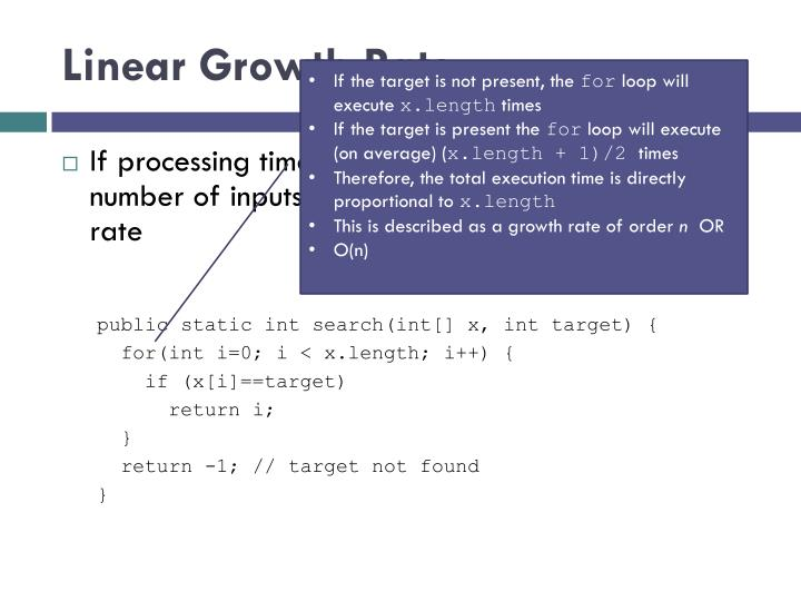 Linear Growth Rate