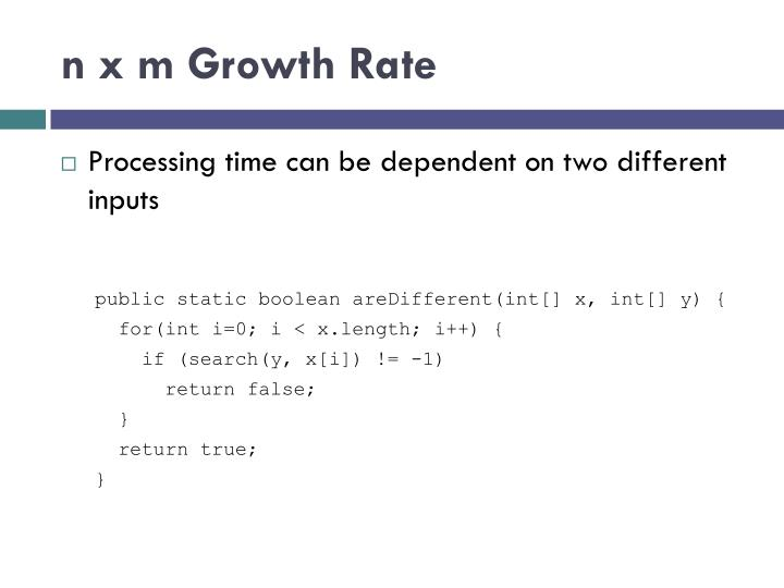 n x m Growth Rate