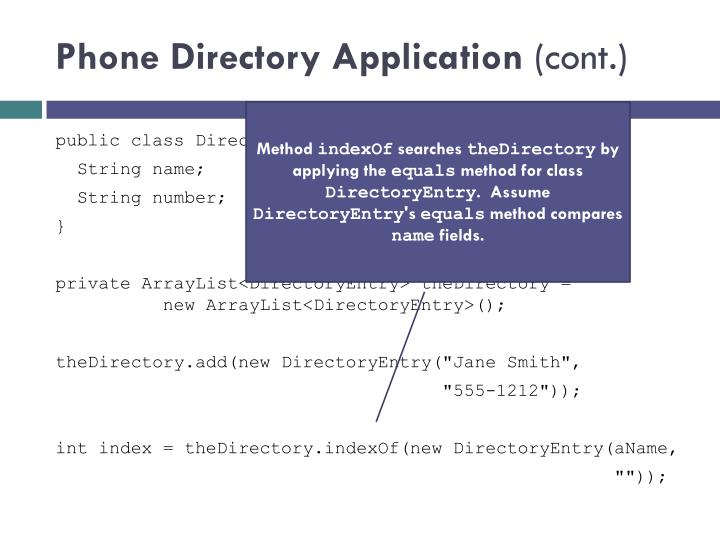 Phone Directory Application