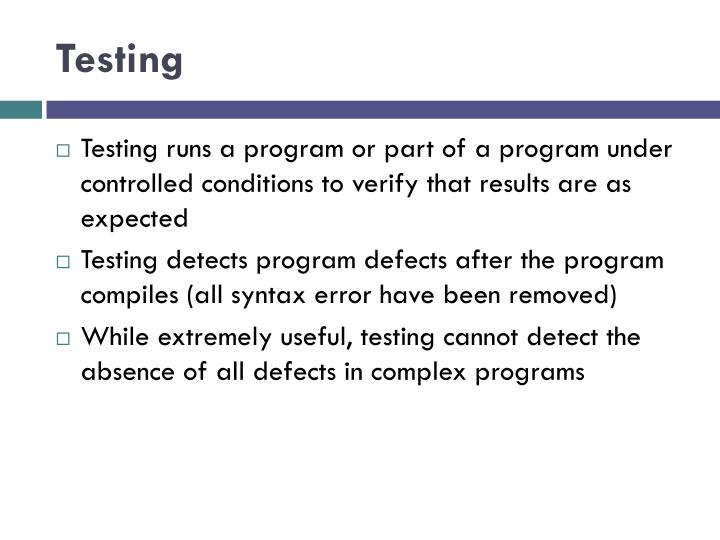 Testing