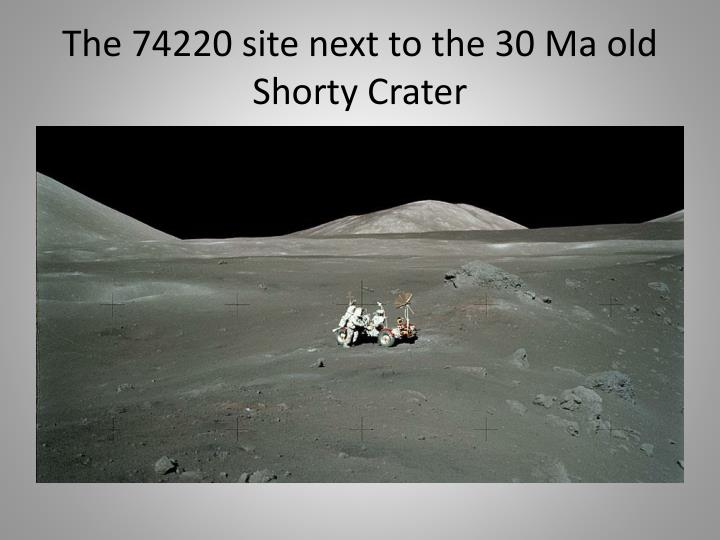 The 74220 site next to the 30 Ma old Shorty Crater