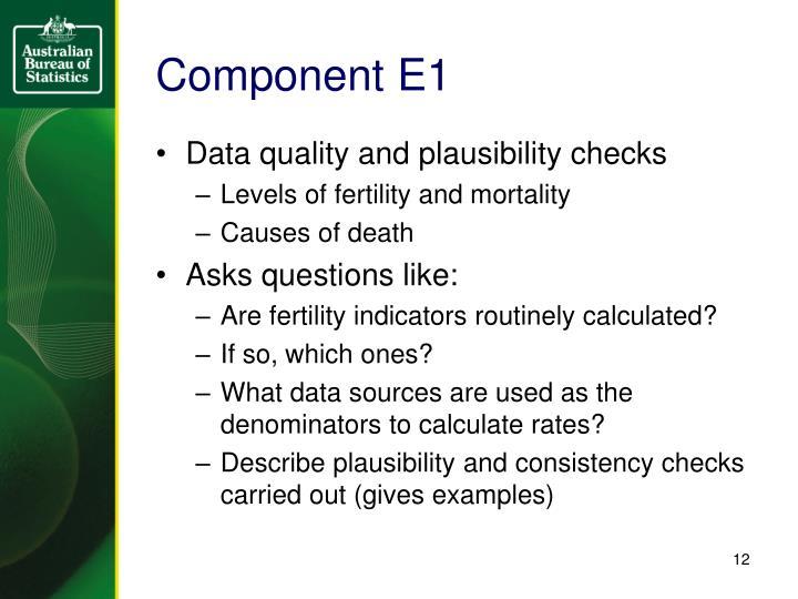 Component E1