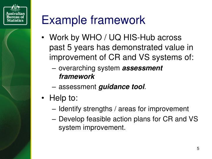 Example framework