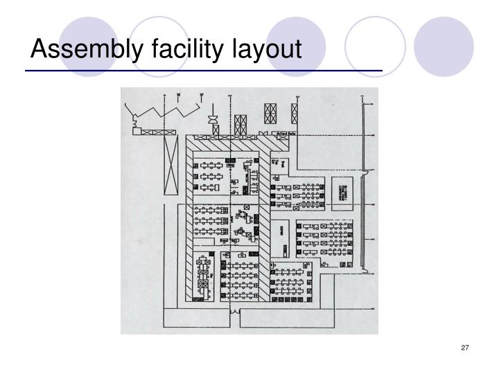 Assembly facility layout