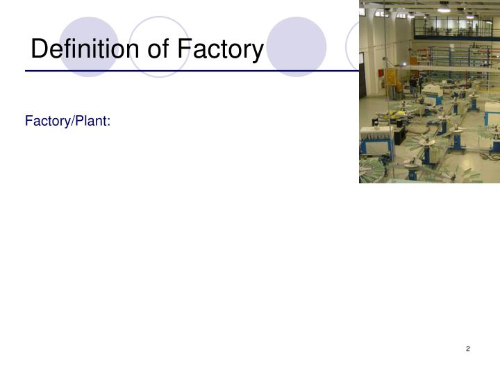 Definition of Factory