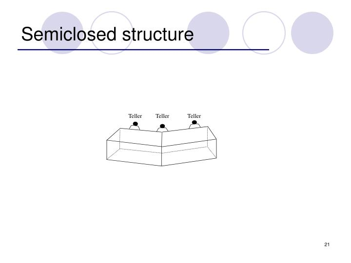 Semiclosed structure