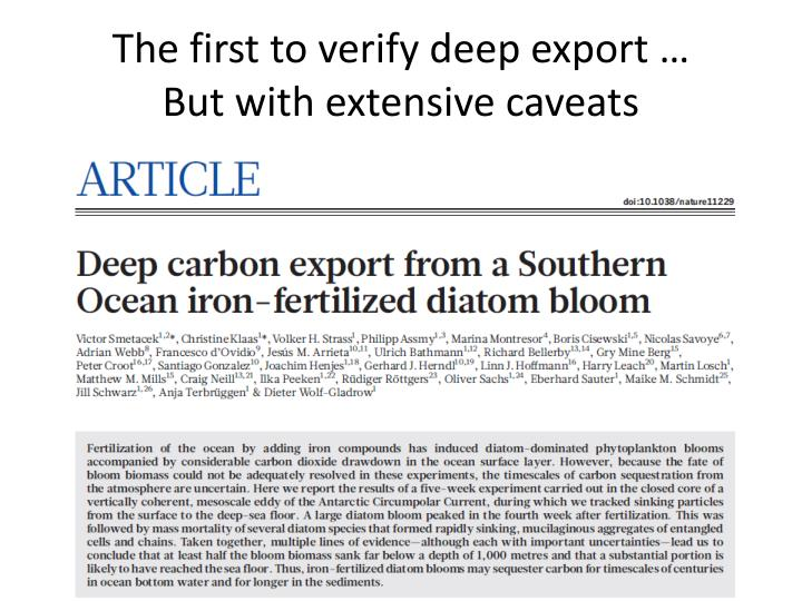The first to verify deep export …