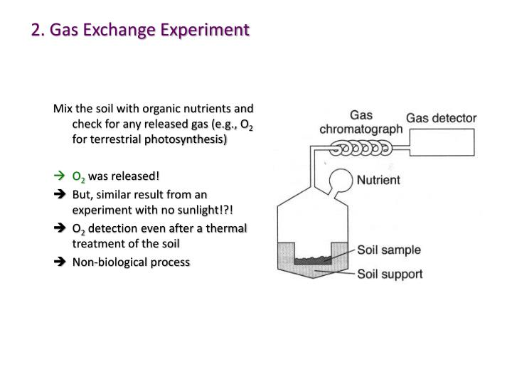 2. Gas Exchange Experiment