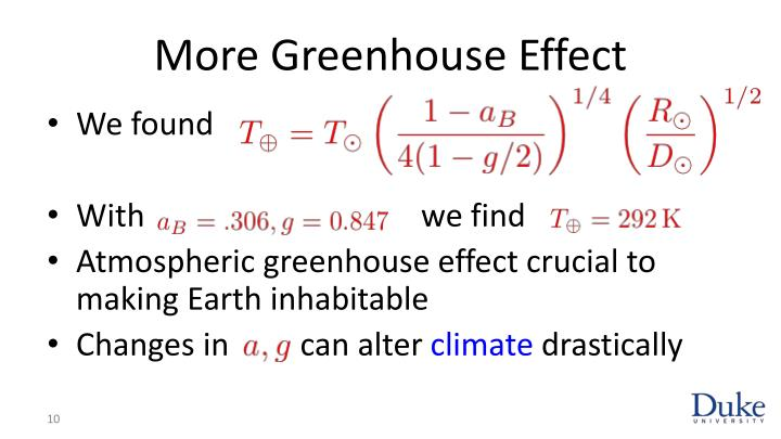 More Greenhouse Effect