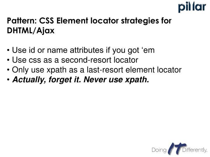 Pattern: CSS Element