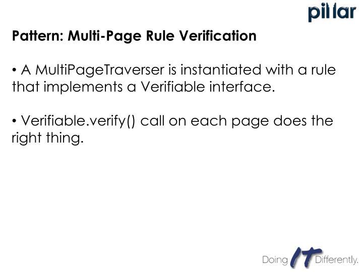 Pattern: Multi-Page Rule