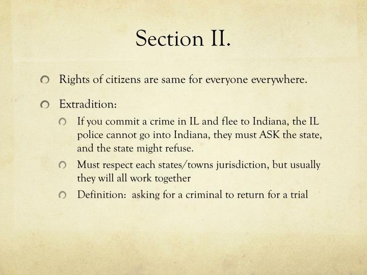 Section II.
