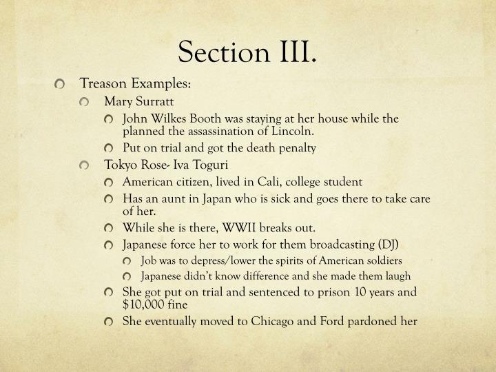 Section III.
