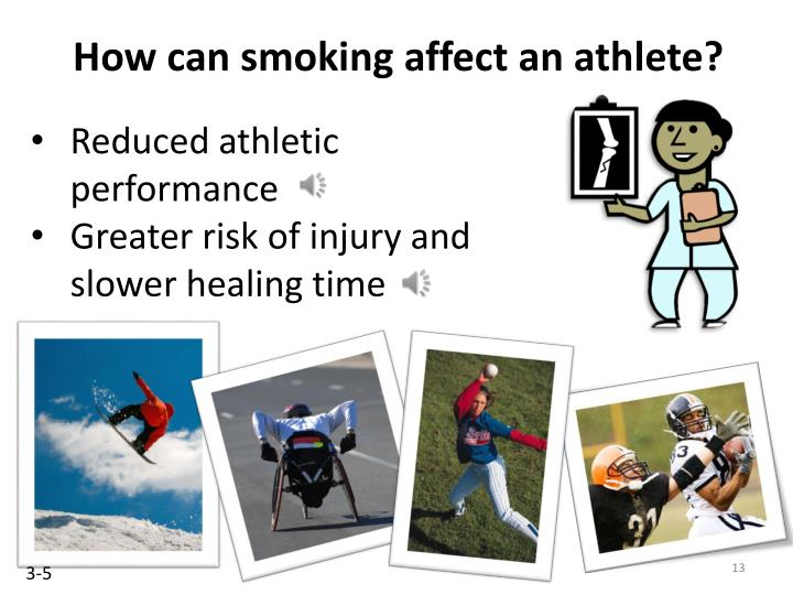 How can smoking affect an athlete?