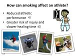 how can smoking affect an athlete