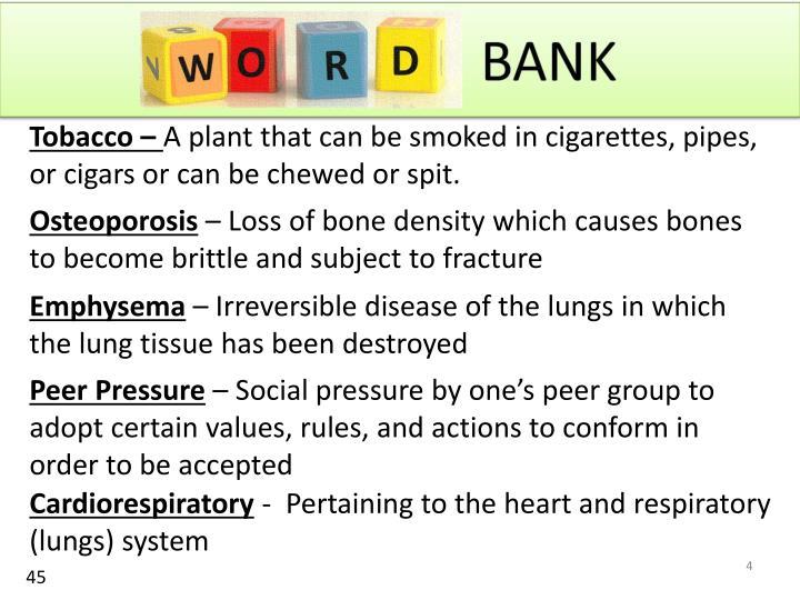 Tobacco –