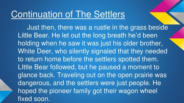 Continuation of The Settlers