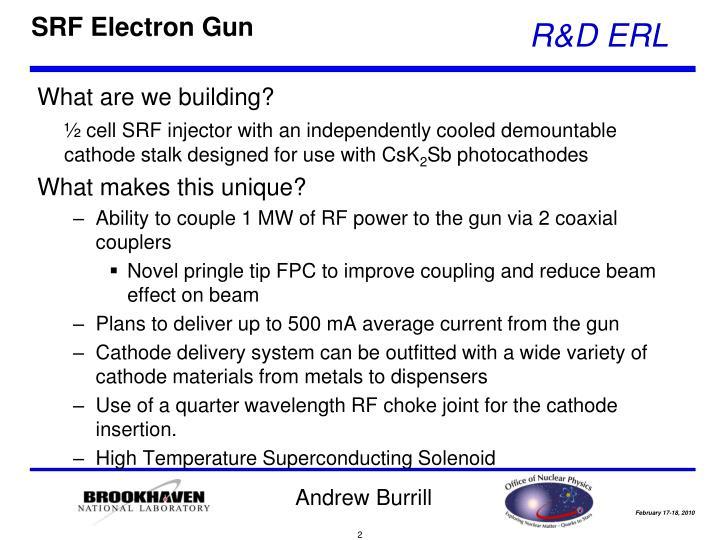 SRF Electron Gun