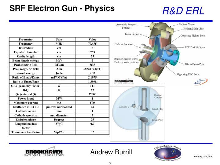 SRF Electron Gun - Physics