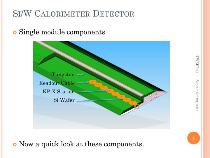 Si/W Calorimeter Detector