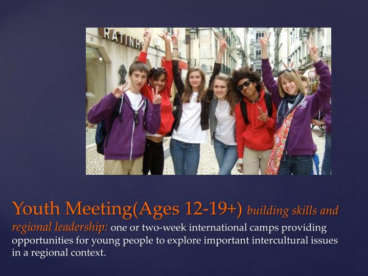 Youth Meeting(Ages 12-19+)