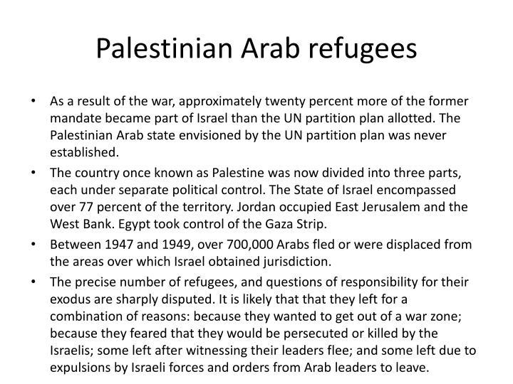 Palestinian Arab refugees
