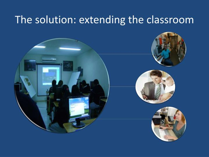 The solution: extending the classroom