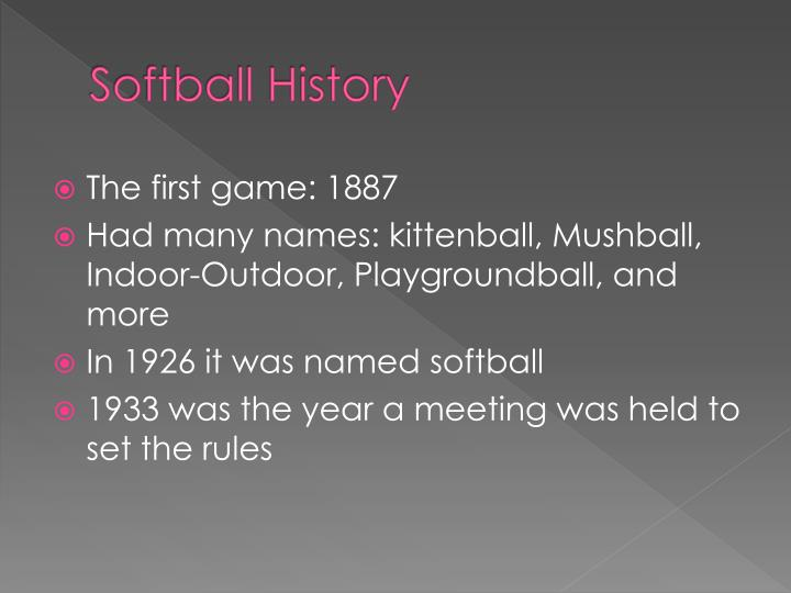 Softball History