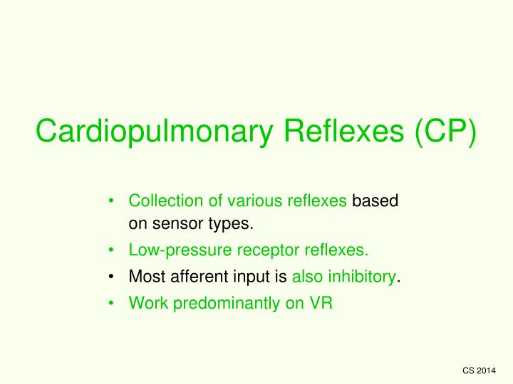 Cardiopulmonary Reflexes (CP)