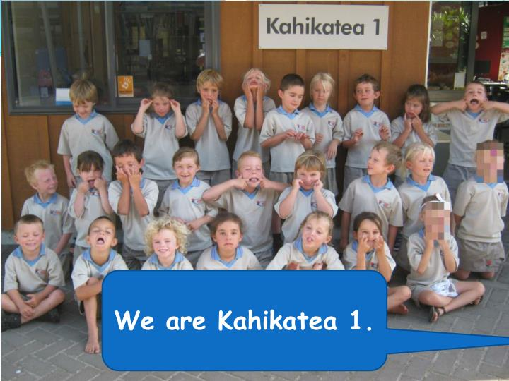 We are Kahikatea 1.