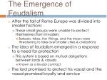 the emergence of feudalism