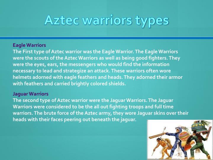 Aztec warriors types