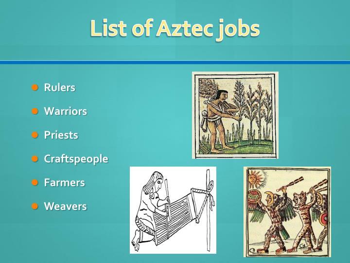 List of Aztec jobs