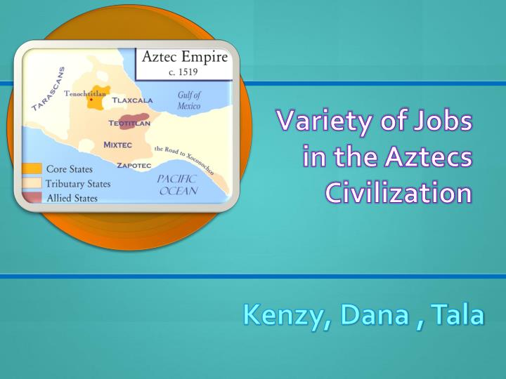 Variety of jobs in the aztecs civilization