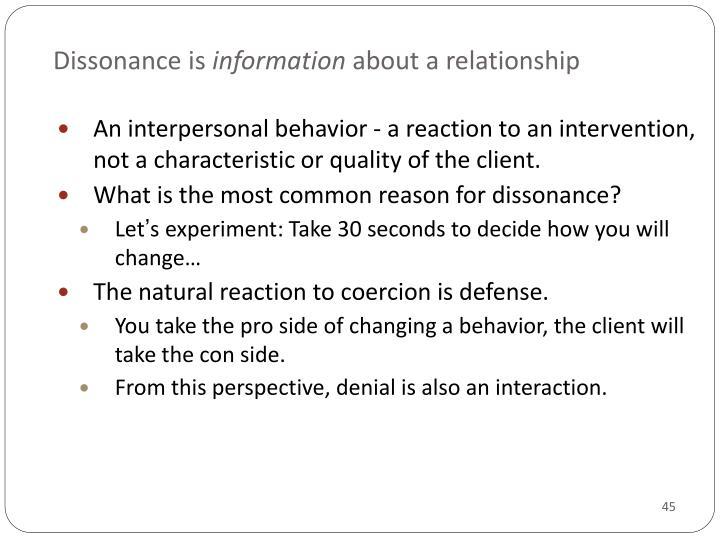 Dissonance is