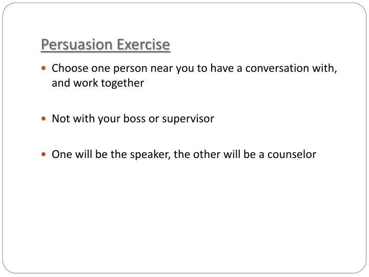 Persuasion Exercise