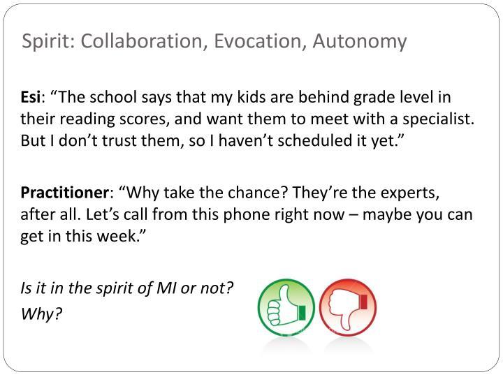 Spirit: Collaboration