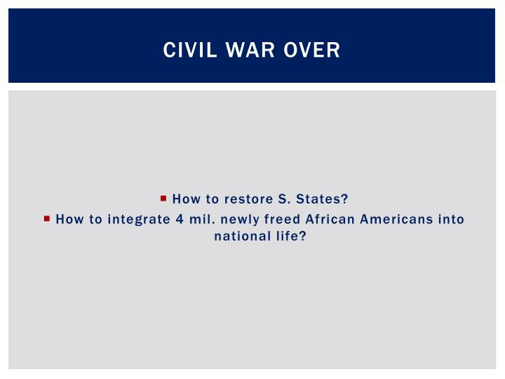 Civil War Over