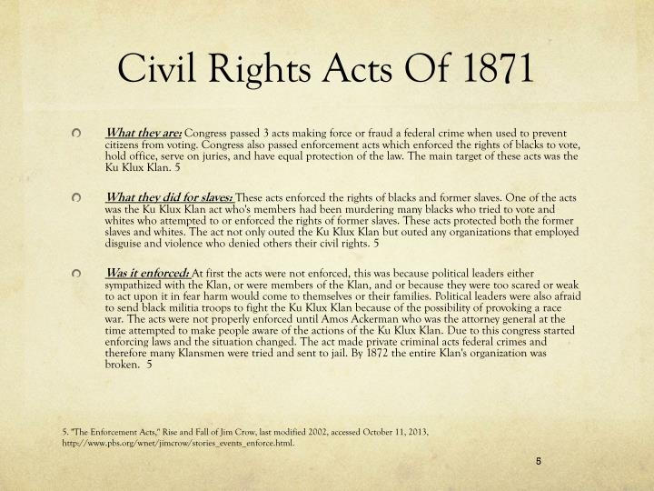 Civil Rights Acts Of 1871
