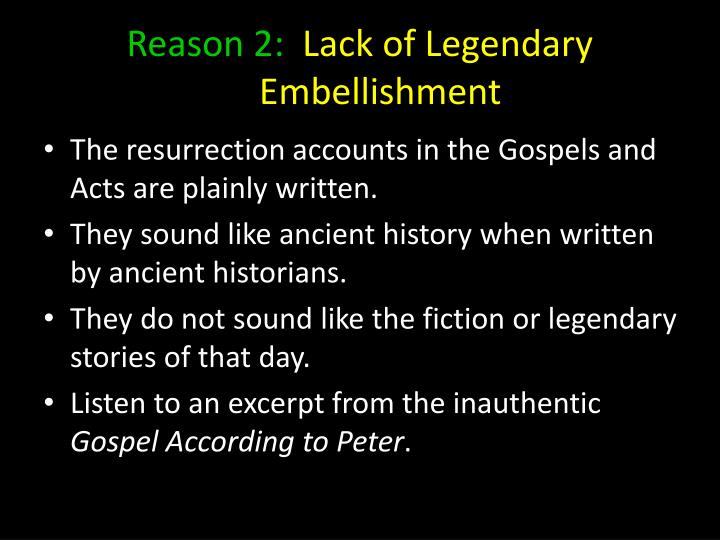 Reason 2: