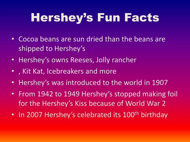 Hershey's Fun Facts