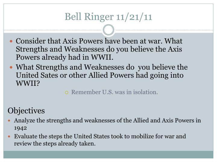 Bell Ringer 11/21/11