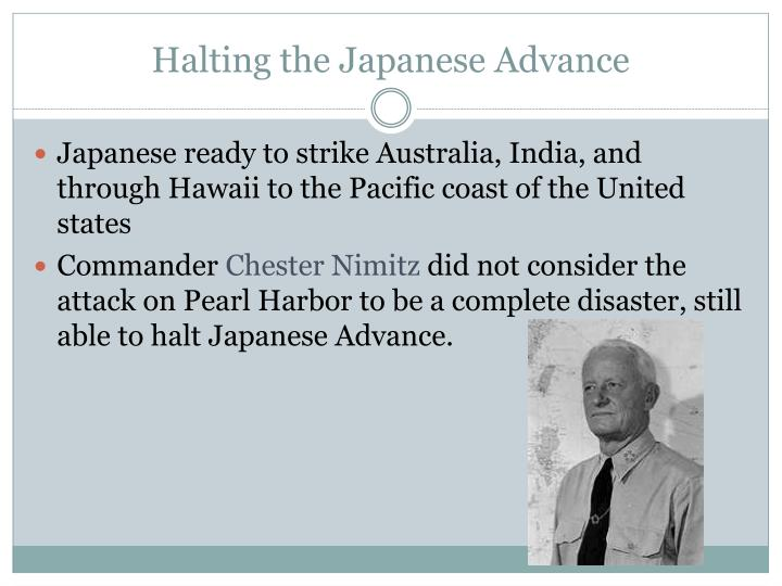 Halting the Japanese Advance