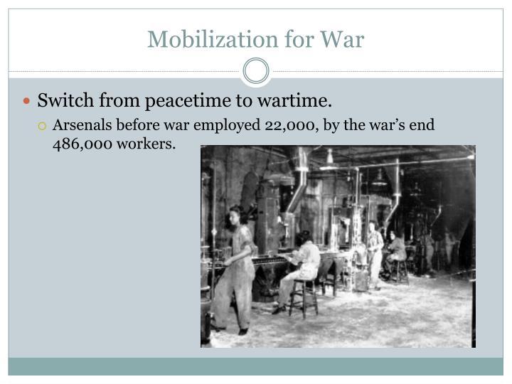 Mobilization for War