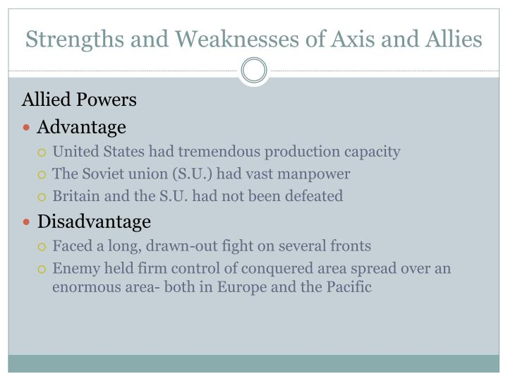 Strengths and Weaknesses of Axis and Allies